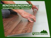 Tapezierarbeiten Trockenbau Boden verlegen - Vom