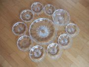 Glasplatte Glasschälchen Glasschüssel - Nachtisch Salat