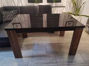 Esstisch mit 4 Schwingstühlen