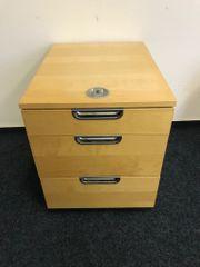 Rollcontainer braun 3 Schubladen abschließbar