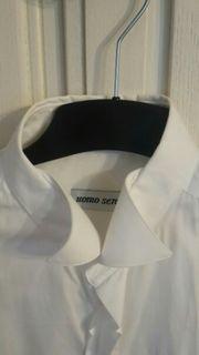 Weißes Bräutigam-Hemd