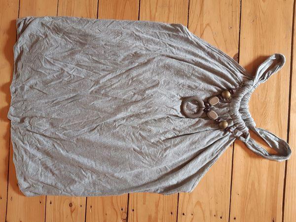 Top Shirt Kleid Holzkette schulterfrei