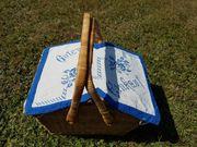 Picknick- Einkaufs- Korb mit besticktem
