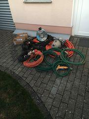 Elektrokabel- und Maschinen Wasserschläuche