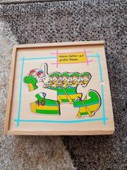 Holz Puzzle Fahrzeuge Zahlen