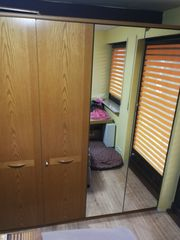 Kleiderschrank mit Spiegel 4 türig