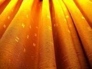 St -4- zweifarbige Vorhänge terracotta-gelb