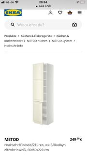 Ikea METOD Hochschrak Küche weiß