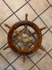 Schiffssteuerrad Schiff Steuerrad Farbe Braun