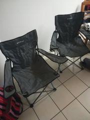 2 Camping Stühle mit becherhalterung