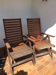 Gartenstühle aus Akazienholz 2x Ikea