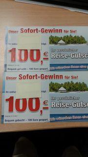 Reisegutschein 2 x 100 EUR