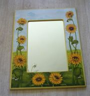 Spiegel bemalt mit Sonnenblumen Liebhaberstück