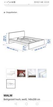 Verkaufe Bett in weiß