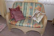 Rattan - Wohnzimmermöbel hell Rattan Sitzgruppe