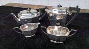 englisches Art Deco Teeservice versilbert