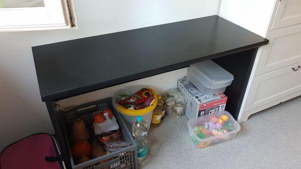 Schreibtisch schwarz 120x47cm