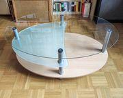 Couchtisch Wohnzimmertisch Beistelltisch Glastisch oval