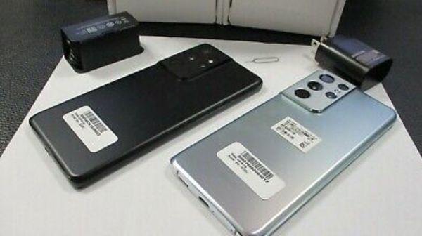 NEU Samsung Galaxy S21 Ultra AT&T UNLOCKED 5G SM-G998U 128GB Phantom Schwarz