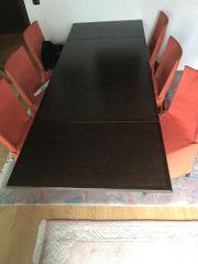 Ausziehbarer Esstisch mit 6 Stühlen