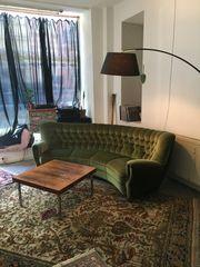 Chersterfield Green Velvet Couch Sofa