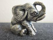 Alte Metallfigur - Zinn - Elefant- schwer - massiv