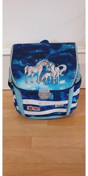 Schulranzen Mc Neill Pferde blau