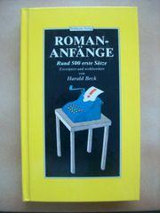 Roman-Anfänge Gebundenes Buch von Harald