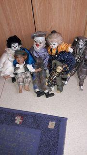 6 verschiedene Sammler - Clown
