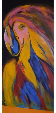 Acrylgemälde auf Leinwand Papagei