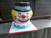 Grosser 50cm Clownkopf Clown Deko