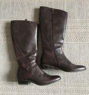 Elegante Cowboy Stiefel Boots dunkelbraun