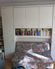 Schlafzimmerschrank Bett-Überbau Schlafsofa Kommode zu