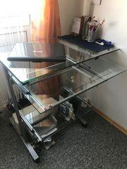 PC Tisch Schreibtisch Glas 30 -