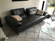 Leder Couch schwarz