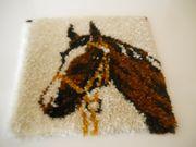 Wandteppich Pferdekopf geknüpft Deko