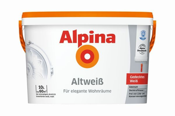 5 Liter Alpina Altweiß Innenraum