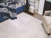 Teppich hellgrau 200 x 200