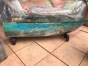 Sideboard Teakboot mit Glasplatte