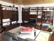 Wohnzimmerschrankwand Stollenwand Eiche maron massiv