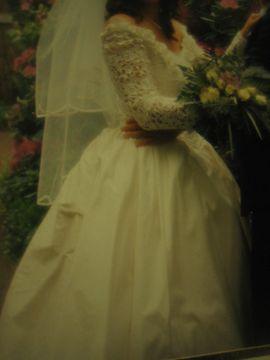 Alles für die Hochzeit - Vintage Brautkleid Hochzeitskleid aus Wildseide