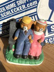 Porzellan - Bären auf Bank