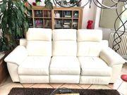 Leder Couch in weiß Ein