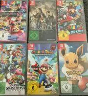 Verschiedene Nintendo Switch Spiele