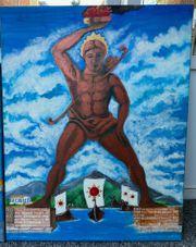 Wandbilder oil painting Der Koloss