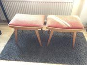 2 x Vintage Sitzhocker Fußhocker