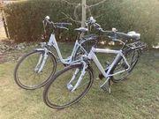 2 Trekkingräder weiß Damen und