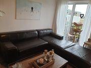 Ikea Leder Sofa braun mit