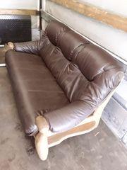 Leder-Couch Sofa aus echtem Leder
