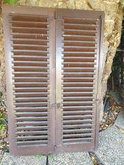 Klappläden Holz Fensterläden H 143cm